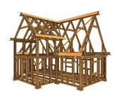 框架结构的建筑 — 图库照片