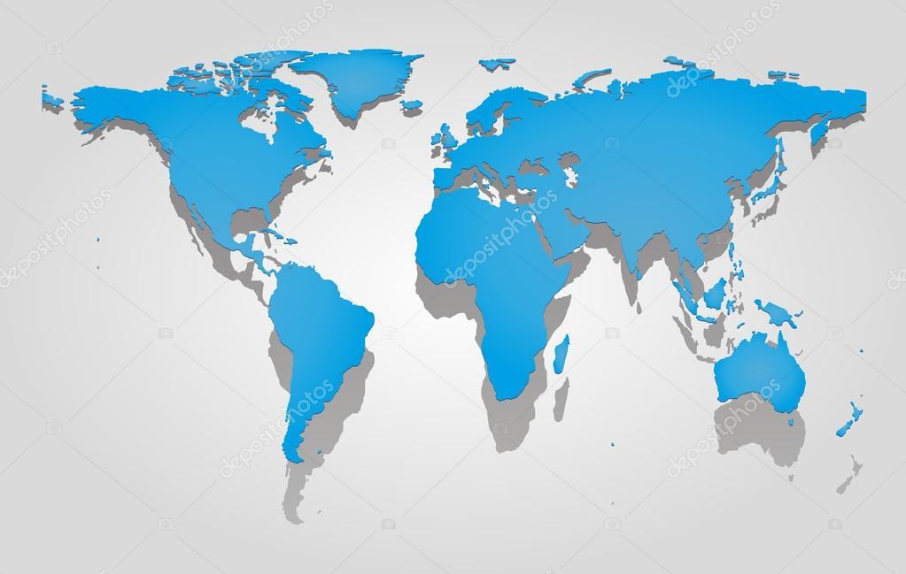 世界地图– 图库插图