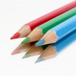 Three color crayons — Stock Photo