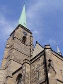 Torre de la catedral de san bartolomé — Foto de Stock