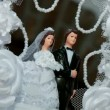 Stock Video: Wedding figurines