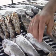 Stock Video: Grilled fish