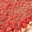 Stockvideo: Heart-shaped strawberry cake