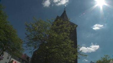 Exterior of a German Church — Stock Video