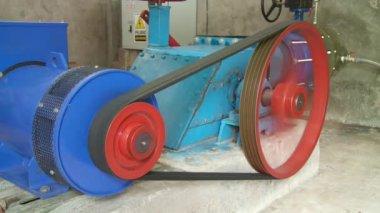 Macchinari industriali, turbina — Video Stock