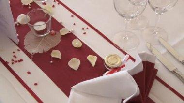 Düğün masa — Stok video