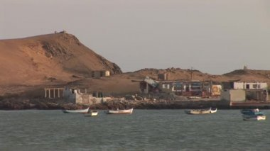 Coastline in the Paracas, Peru — Stock Video