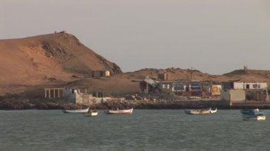 Coastline in the Paracas, Peru — Stock Video