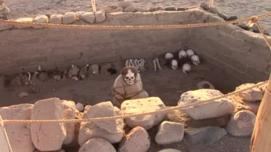 Mummy, Paracas, Peru — Stock Video