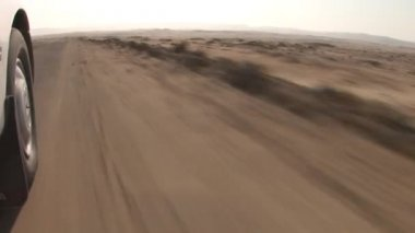 Car trip in the Paracas, Peru — Stock Video