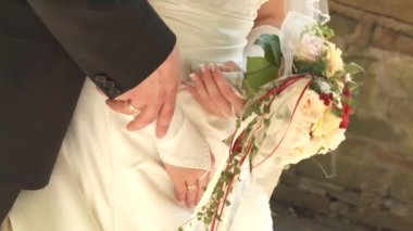 Bride with bouquet — Stock Video