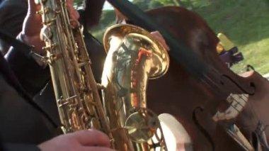 音乐家演奏 — 图库视频影像