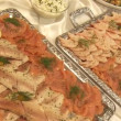 Stock Video: Tasty food in buffet