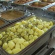 Stock Video: Food in buffet