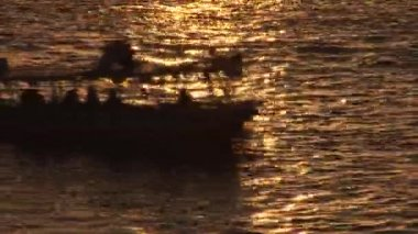 Sun setting on the Nile — Stock Video