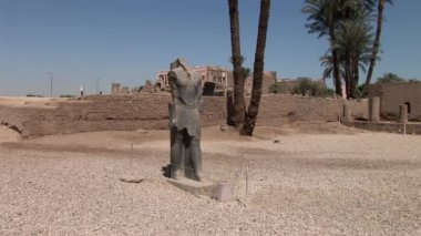 Temple of Luxor ruins — Stock Video