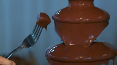 Chocolate fountain — Stock Video