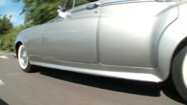 Carro à moda antiga — Vídeo stock