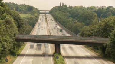 COLOGNE - APRIL 04: Highway in Germany near by cologne on the autobahn A3 on April 4, 2012 — Stock Video