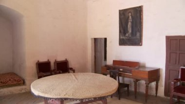 Santa Catalina monastery room — Stok video