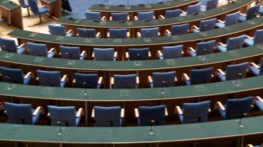 Meeting room, boardroom in the Bundestag — Wideo stockowe