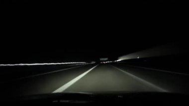 Trip on highway in Germany at night — Vídeo de stock
