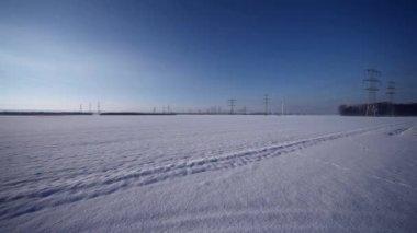 Landscape in winter — Stock Video