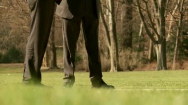 Business men legs outdoors — Video Stock