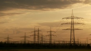 Electrical towers — Stockvideo