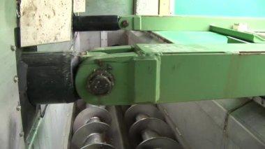 Push mechanism, Biogas Power Plant — Stock Video