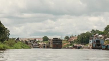 Shipyard, Amazon River, Peru — Stock Video