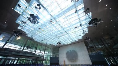 Meeting room, boardroom in the Bundestag — Stok video