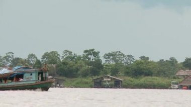 City Of Iquitos from seaside — Stock Video