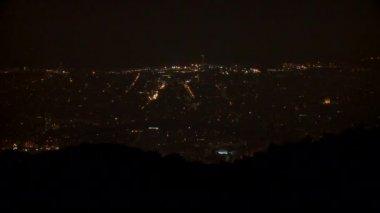 Barcelona at night — Stock Video