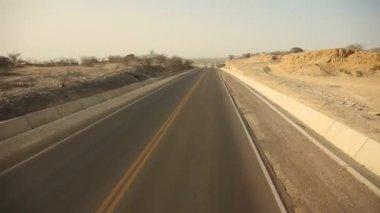 Driving In Desert — Stock Video