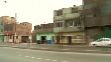 Usual street in Lima, Peru — Stock Video