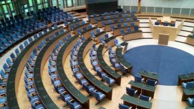 Meeting room, boardroom in the Bundestag — Стоковое видео