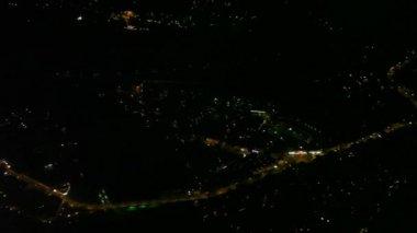 Flight over a big city at night — Stock Video