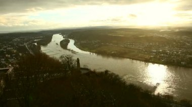 Landscape of  the Rhine — Stock Video
