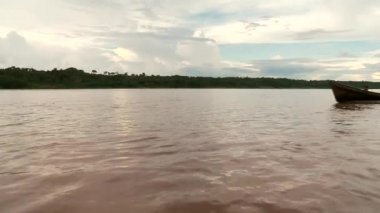 Shipping On Amazon River — Stock Video