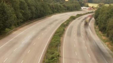 COLOGNE - APRIL 04: (Timelapse View) Highway in Germany near by cologne on the autobahn A3 on April 4, 2012 — Video Stock