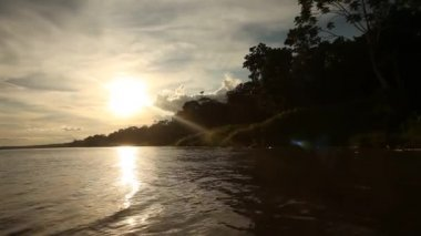 Boat trip at the Amazon river — Stockvideo