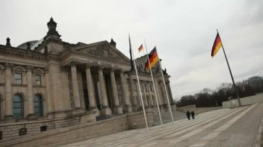 View of German parliament  - Reichtag — Stock Video
