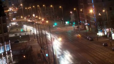 Traffic at night — Vídeo de stock
