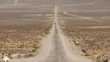 Desert road in the Andes — Stockvideo