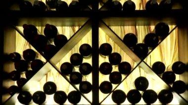 Wine bottles — Stock Video