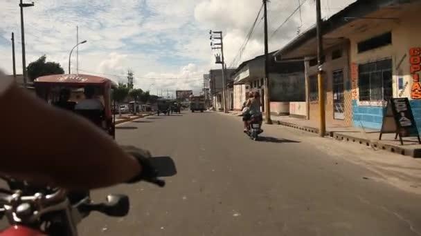 Street in the Iquitos, Peru — Vídeo de stock