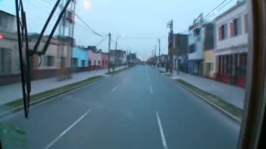 Bus trip through Lima — Vídeo de stock