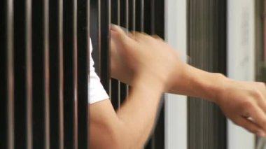 Prisoner hands — Stock Video