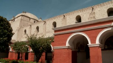 Courtyard, monastery — Stock Video